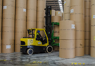 Save moving costs with with Spacesaver lift trucks